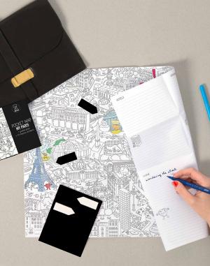 OMY - Coloring Pocket Map - My Paris