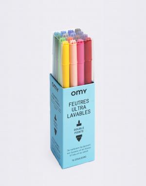 OMY - 16 Ultra Washable Felt Pens