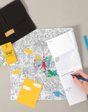 OMY - Coloring Pocket Map - My Tokyo
