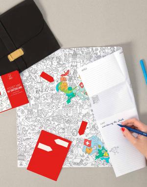 OMY - Coloring Pocket Map - Switzerland
