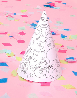 OMY - 8 Coloring Party Hats