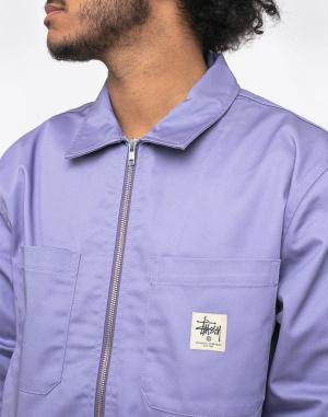 Stüssy - Zip Up Work LS Shirt