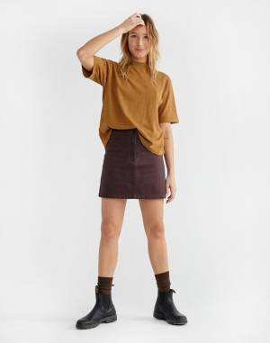 T-shirt Thinking MU Caramel Hemp Aidin T-Shirt