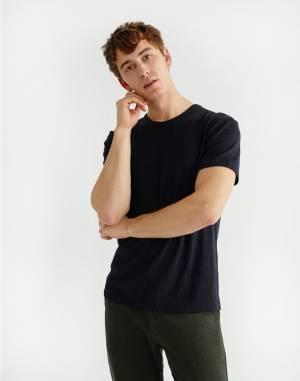 T-shirt Thinking MU Basic Black Hemp T-Shirt
