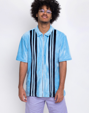 Lazy Oaf - Velour Panel Zip Up Shirt