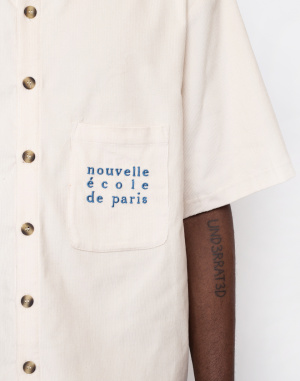 North Hill - Off-White Corduroy Shirt