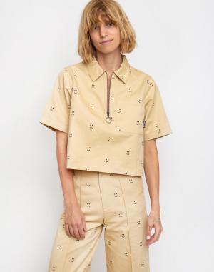 Lazy Oaf - Happy Sad Cropped Zip Shirt