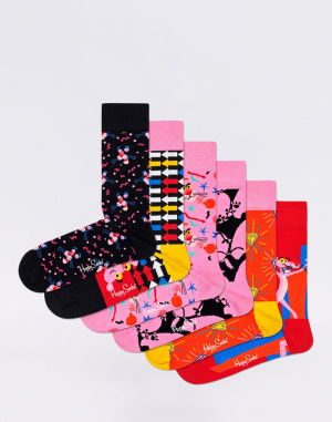 Happy Socks - 6-Pack Pink Panther Collector Box Se...