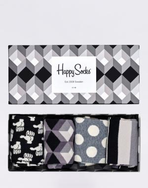 Happy Socks - Black And White Gift Box