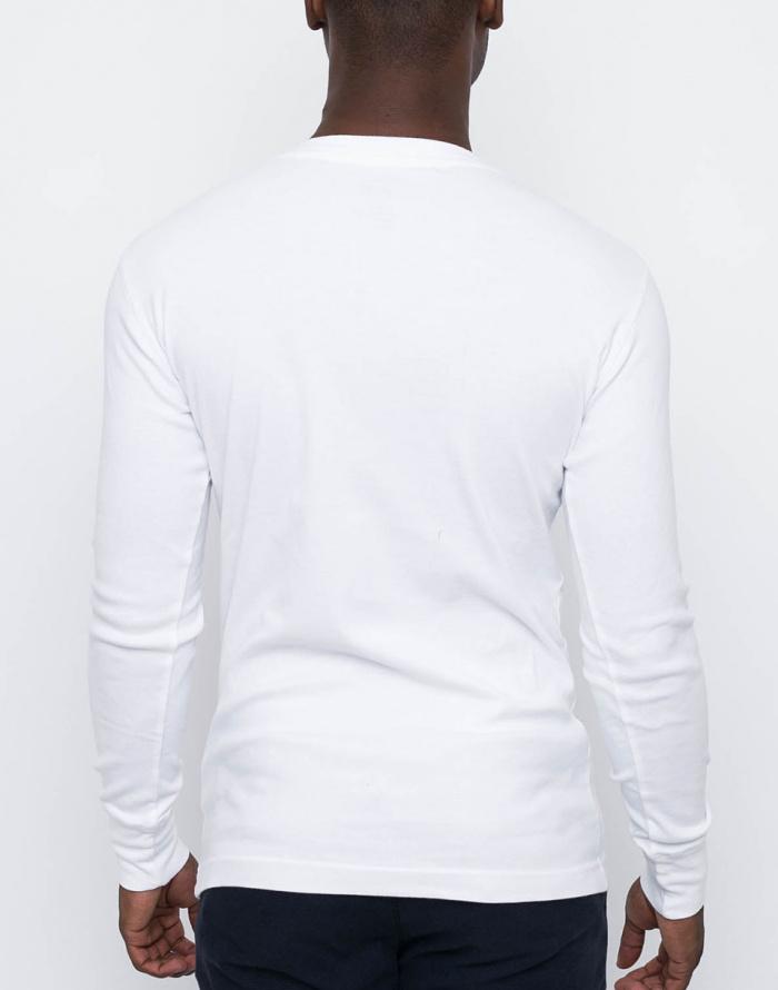 T-Shirt - Knowledge Cotton - Rib Knit Henley