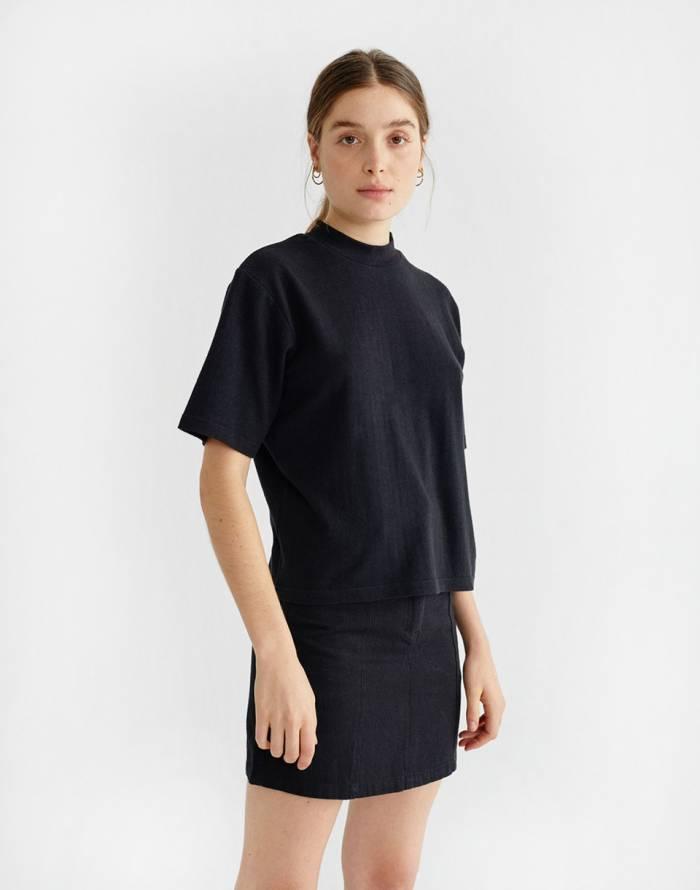 T-shirt Thinking MU Black Hemp Aidin T-shirt