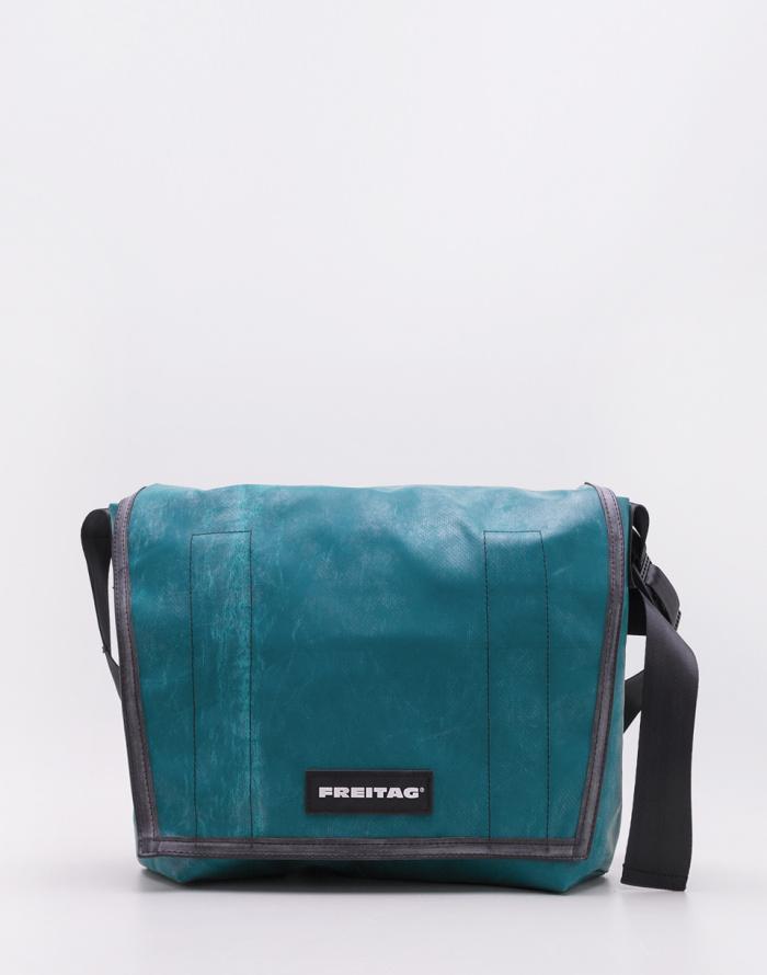 FREITAG Messenger Bag F12 DRAG NET Gray//Red Used